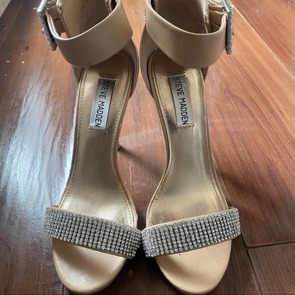 ✨Sparkly✨ Steve Madden Golden Tan Stiletto Sandals